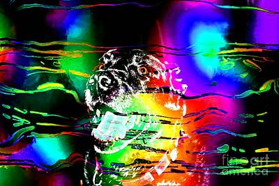 Retriever Digital Art - Jazzy Smiling Black Lab by Barbara Griffin