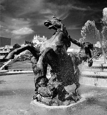 City Photograph - Jc Nichols Memorial Fountain by Laurie Douglas