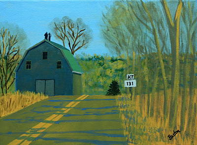 Maine Landscapes Painting - Jct 131 by Laurie Breton