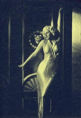 Jean Harlowe Print by Dwayne  Graham