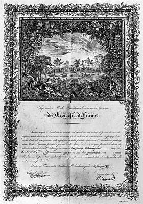 Jefferson: Degree, 1820 Print by Granger