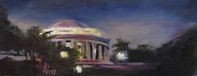 Jefferson Memorial Painting - Jefferson Memorial by Vicki Ross