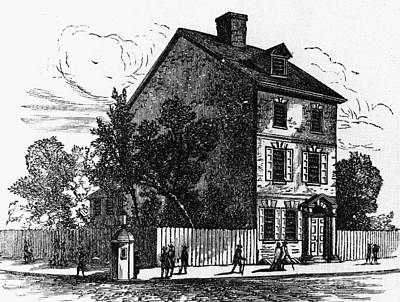 Jeffersons House, 1776 Print by Granger