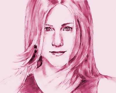 Jennifer Aniston Print by Attila Dancsak