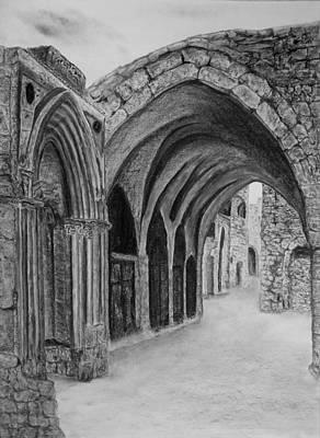 Ancient Civilization Drawing - Jerusalem Old Street by Marwan Hasna - Art Beat