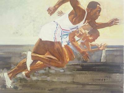 Berlin Germany Painting - Jesse Owens 1936 Olympics by Chuck Hamrick