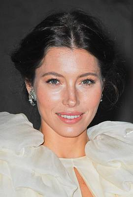 Jessica Biel Photograph - Jessica Biel  Wearing Fred Leighton by Everett