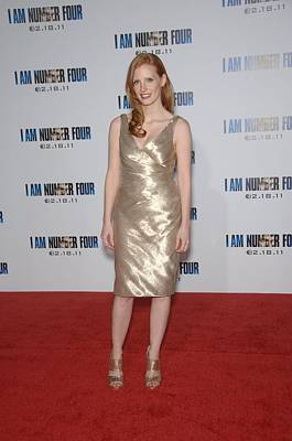 Gold Lame Photograph - Jessica Chastain At Arrivals For I Am by Everett