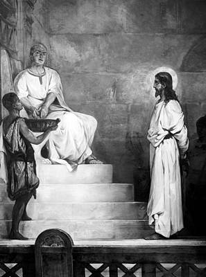 Jesus Christ, Title Pontius Pilate Print by Everett