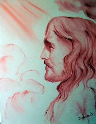 Jesus In His Glory Print by Raymond Doward