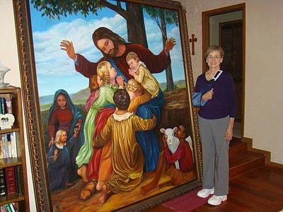 Jesus Loves The Children Print by Bobi Glenn