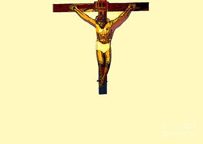 Inri Photograph - Jesus On The Cross Poster by Al Bourassa