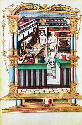Jesus The Apothecary, 16th Century Print by