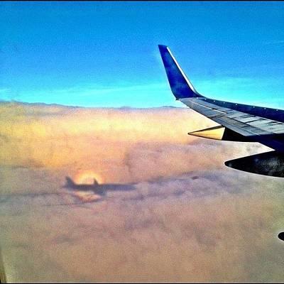Jet Photograph - Jet Shadowing - Final Approach Koa by Tony Macasaet