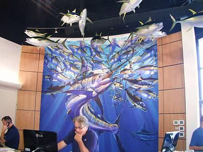 Swordfish Digital Art - Jetson Mural by Carey Chen