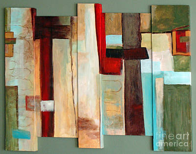 Pentaptych Painting - Jewel Five by Phyllis Howard