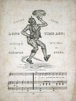 Jim Crow. Sheet Music For Long Time Print by Everett