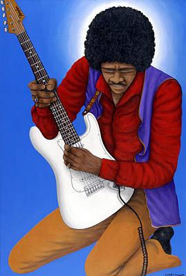 Jimmy Hendrix Painting - Jimi Hendrix  by Larry Smart