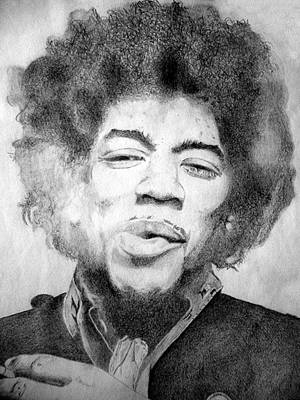 Jimi Hendrix - Medium Print by Robert Lance