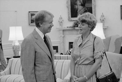 Jimmy Carter With Congresswoman Print by Everett