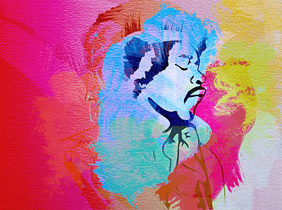 Jimmy Hendrix Print by Naxart Studio
