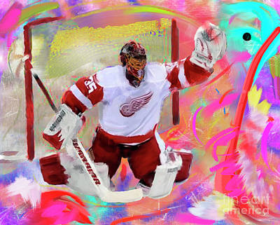 Jimmy Howard Print by Donald Pavlica