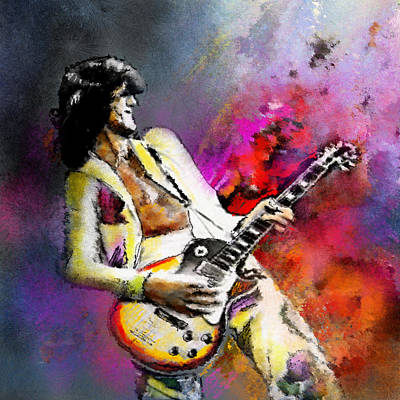 Led Zeppelin Mixed Media - Jimmy Page 02 by Miki De Goodaboom