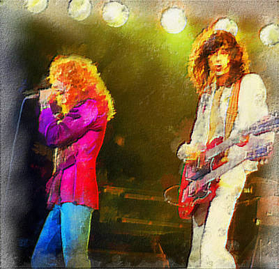 Jimmy Page And Robert Plant Original by Riccardo Zullian