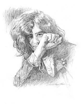 Yardbirds Painting - Jimmy Page In Person by David Lloyd Glover