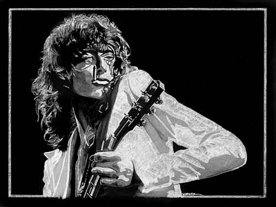 Jimmy Page Drawing - Jimmy Page2 by Anthony Warner