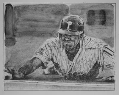 Jimmy Rollins Original by Paul Autodore