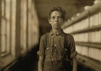 Jo Bodeon, A Child Laborer In The Chace Print by Everett