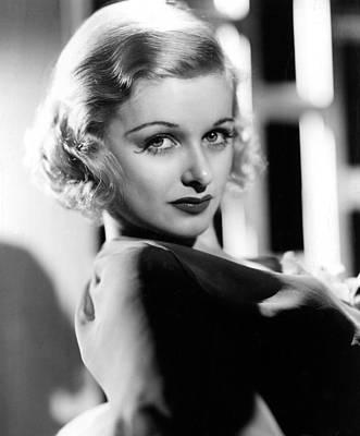 Joan Bennett Photograph - Joan Bennett, 1936, After A Makeover by Everett