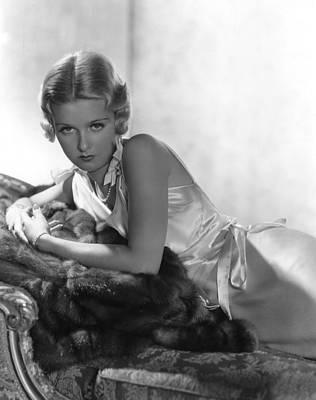 Hurrell Photograph - Joan Bennett, Reclining, In A 1933 by Everett