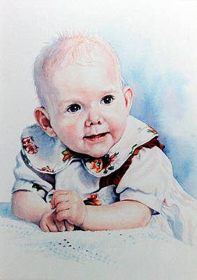 Of Toddlers Painting - Jocies First Tooth by Hanne Lore Koehler
