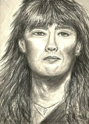 Def Leppard Drawing - Joe Elliott by Gina Cordova