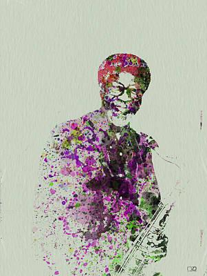 Jazz Musicians Painting - Joe Henderson Watercolor  by Naxart Studio