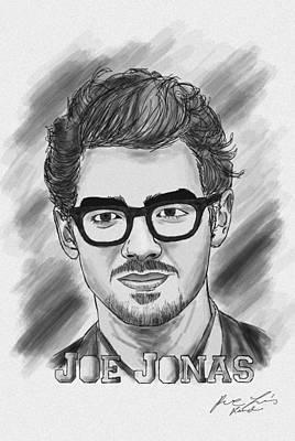 Joe Jonas Drawing Print by Pierre Louis