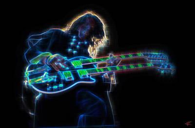 Aerosmith Digital Art - Joe Perry by Kenneth Armand Johnson