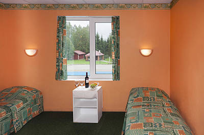 Jogeva County A Bedroom With Two Beds Print by Jaak Nilson