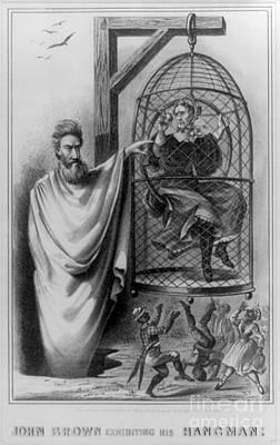 John Brown Exhibiting His Hangman, 1863 Print by Photo Researchers