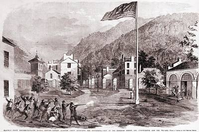 John Browns Harpers Ferry Insurrection Print by Everett