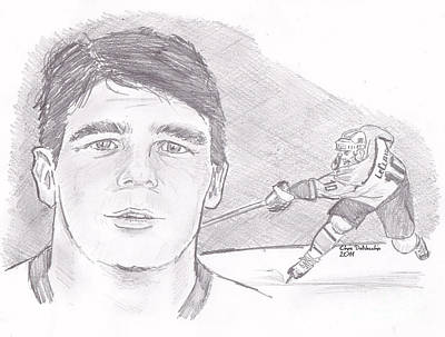 Philadelphia Flyers Drawing - John Leclair by Chris  DelVecchio