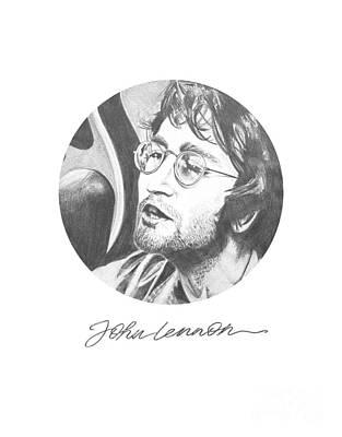 John Lennon Art Drawing - John Lennon by Six Artist