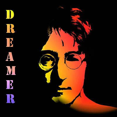 Singer Famous Star Band Music Musican England English Liverpool Digital Art - John Lennon by Steve K