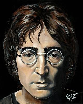 Beatles Painting - John Lennon by Tom Carlton