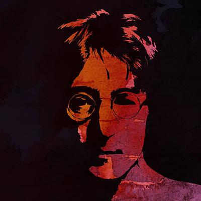 John Lennon Watercolor Print by Steve K
