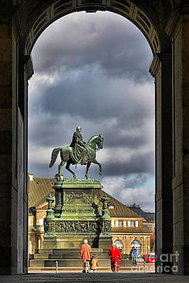 John Of Saxony Monument - Dresden Theatre Square Print by Christine Till