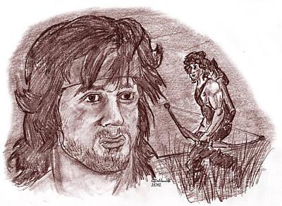 John Rambo Print by Chris  DelVecchio