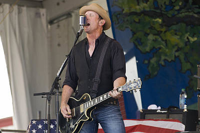 John Thomas Griffith Of Cowboy Mouth Print by Terry Finegan